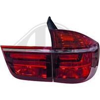 BMW X5 E70 07-10 Фонари светодиодные, красно-белые Lightbar design