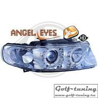 Seat Toledo 99-05 Фары с ангельскими глазками и линзами хром