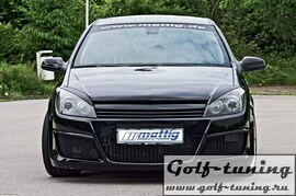 Opel Astra H GTC 3D 04-07 Решетка без значка черная