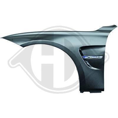 BMW F30/F31 11-15 Комплект крыльев EVO4 Look с хром вставкой