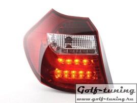 BMW E87 04-07 Фонари светодиодные, красно-белые