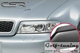 Audi A4 99-01 Реснички на фары carbon look