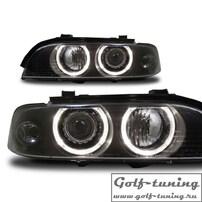 BMW E39 95-00 Фары с линзами и ангельскими глазками черные