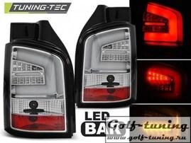 VW T5 09-15 Фонари светодиодные, хром Lightbar
