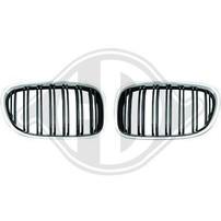 BMW F01 08-12 Решетки радиатора (ноздри) с хром окантовкой