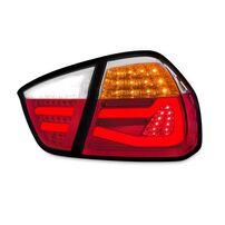 BMW E90 Седан 2004-2008 Фонари lightbar design красно-белые