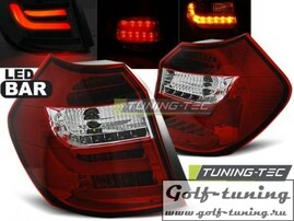 BMW E81/E87 07-11 Фонари светодиодные, красно-белые Lightbar с светодиодным поворотником