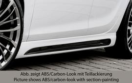 Opel Astra J 09-15 Накладки на пороги Carbon Look