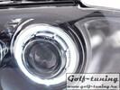 BMW E87 04-07 Фары с линзами и ангельскими глазками черные