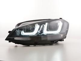VW Golf 7 12-17 Фары GTI Look с черной полосой
