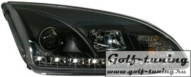 Ford Focus 04-08 Фары Devil eyes, Dayline черные