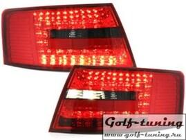 Audi A6 4F 04-08 Седан Фонари светодиодные, красно-тонированные