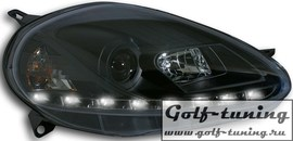 Fiat Grande Punto 08-09 Фары Devil eyes, Dayline черные