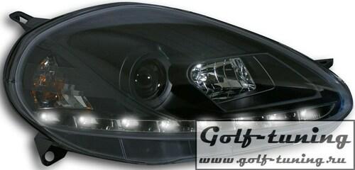 Fiat Grande Punto 09- Фары Devil eyes, Dayline черные