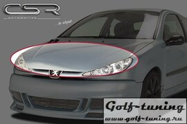 Peugeot 206 98-08 Ресница Badlook из металла X-Line design
