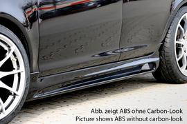 Opel Corsa D 06-14 5Дв Накладки на пороги Carbon Look