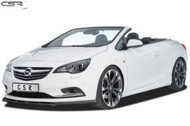 Opel Cascada 13- Накладка на передний бампер глянцевая