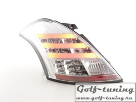 Suzuki Swift 11-13 Фонари светодиодные, хром