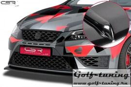 Seat Leon 3 Cupra/FR 12-16 Накладка на передний бампер Cupspoilerlippe carbon look