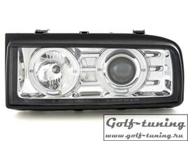 VW Corrado Фары с линзами и ангельскими глазками хром