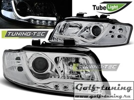 Audi A4 00-04 Фары LED TUBE LIGHTS хром
