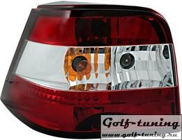 VW Golf 4 Фонари красно-белые