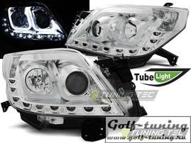 Toyota Land Cruiser 150 09-13 Фары Tube lights хром
