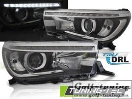 Toyota Hilux 16- Фары светодиодные true drl черные