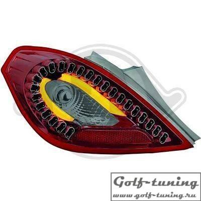 Opel Corsa D 3Дв 06-14 Фонари светодиодные, красно-тонированные