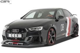 Audi RS3 8V 2015- Спойлер переднего бампера черный