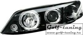 Opel Vectra B 99-02 Фары с ангельскими глазками и линзами черные