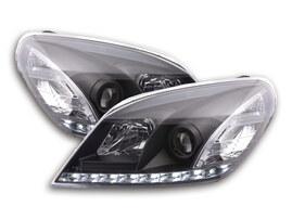 Opel Astra H 04-09 Фары с LED габаритами черные