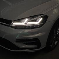 VW Golf 7 17-20 Фары LEDriving Xenarc upgrade halogen черные