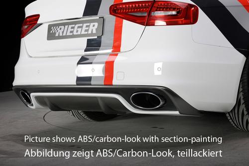 Audi A4 B8 11-15 Диффузор для заднего бампера глянцевый