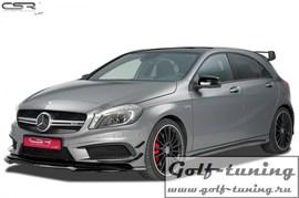 Mercedes W176/CLA C117/X117 12-15 Накладка на передний бампер carbon look