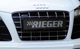 Решетка радиатора для бампера Rieger 14102/14103 V10-Look