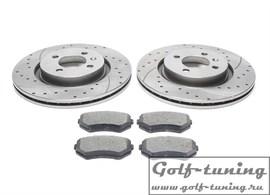 Seat Cordoba/Ibiza II/III/IV/Toledo I/VW Corrado/Golf II/Passat 35i Комплект спортивных тормозных дисков и колодок