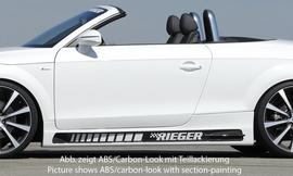 Audi TT 8J 06-14 Coupe/Roadster Накладки на пороги Carbon Look