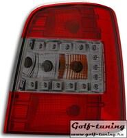 VW Touran 03-10 Фонари светодиодные, красно-тонированные