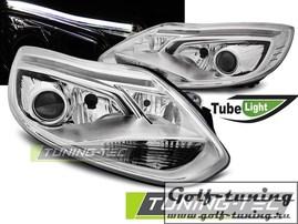 Ford Focus 3 11-14 Фары Tube lights хром