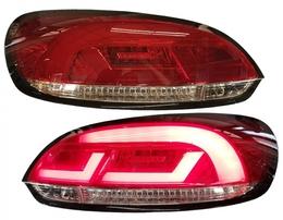 VW Scirocco 08-14 Фонари светодиодные, красно-белые с светодиодным бегающим поворотником