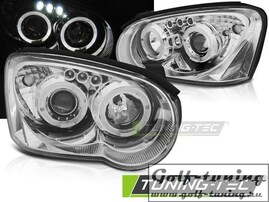 Subaru Impreza II GD 03-05 Фары angel eyes хром