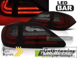 Lexus RX III 350 09-12 Фонари светодиодные, красно-тонированные с бегающим поворотником
