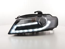 Audi A4 (B8/8K) 08- Фары с LED габаритами черные