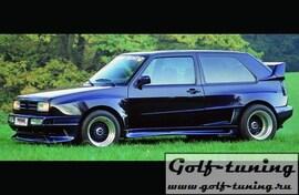 VW Golf 2/Jetta 2 Накладки на пороги wide