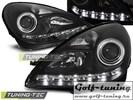 Mercedes R171 04-11 Фары Devil eyes, Dayline черные