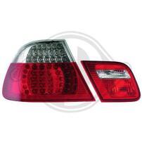 BMW E46 99-03 Кабрио Фонари светодиодные, красно-белые с светодиодным поворотником