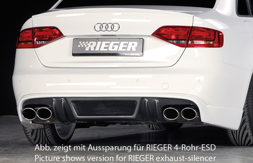 Audi A4 B8 07-11 Диффузор для заднего бампера Carbon Look