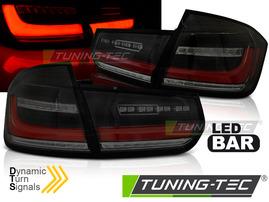 BMW F30 11-18 Фонари lightbar design с бегающим поворотником тонированные