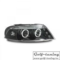 VW Passat B5+ Фары с ангельскими глазками и линзами черные